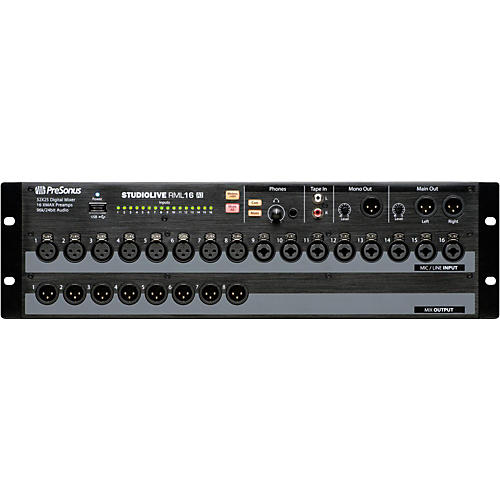 open box presonus studiolive rml 16ai 16 channel rackmount digital mixer musician 39 s friend. Black Bedroom Furniture Sets. Home Design Ideas