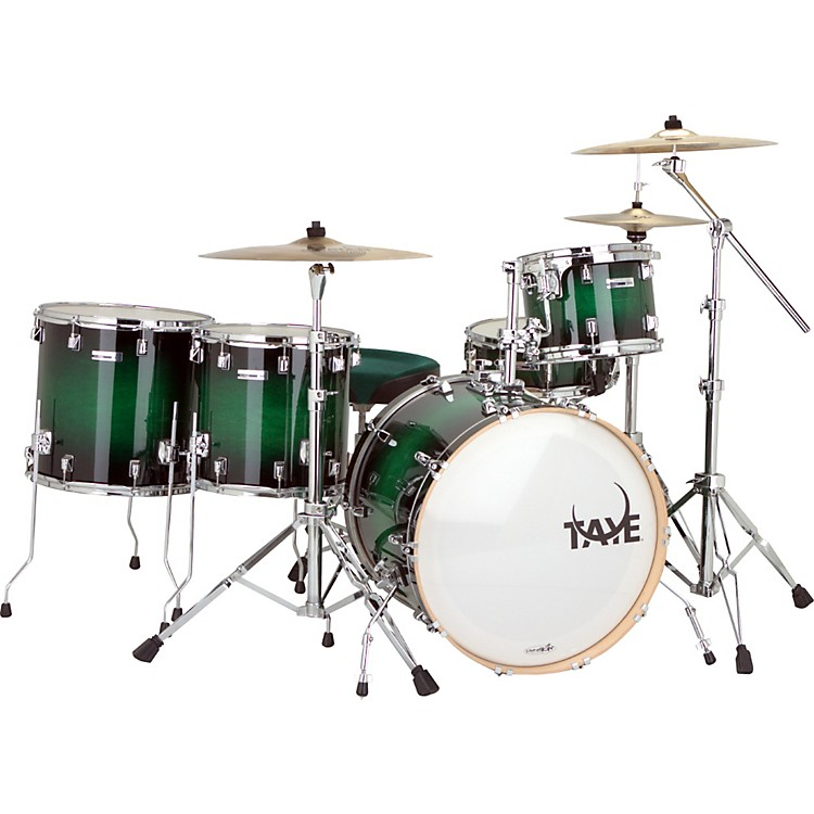 Taye Drums StudioMaple SM522SD 5-piece Shell Pack Green Black Burst