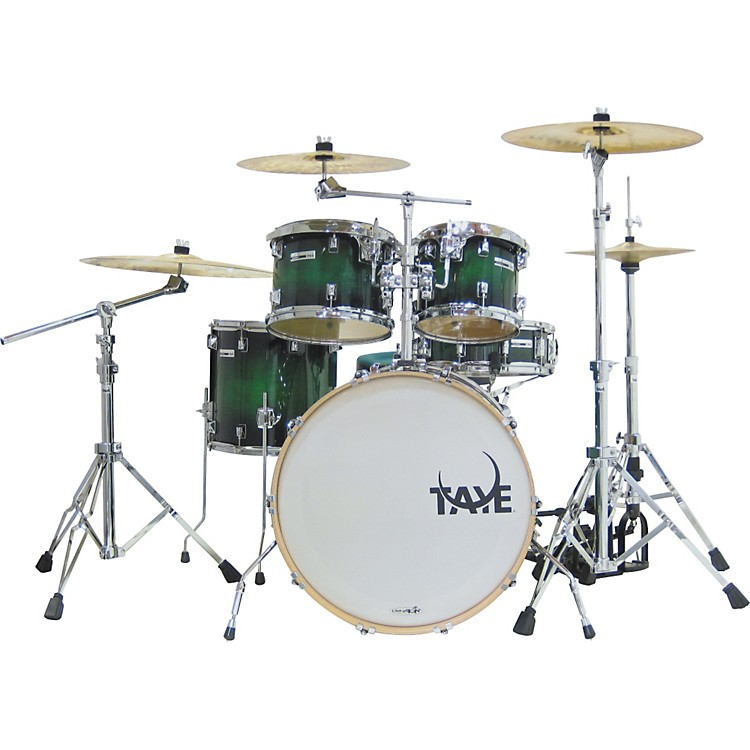 Taye Drums StudioMaple Stage 5-Piece Shell Pack Green Black Burst