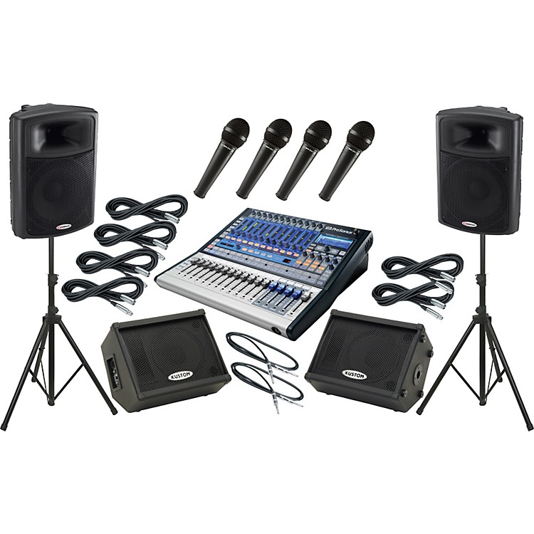PreSonus Studiolive 16.0.2 / Harbinger APS15 Mains and Monitors Package