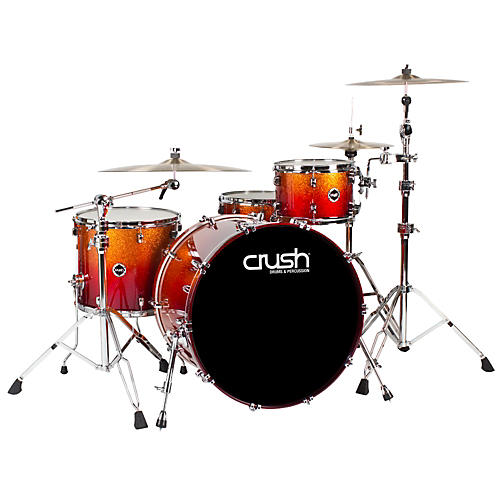 Crush Drums & Percussion Sublime E3 Maple 4-Piece Shell Pack High Gloss Lacquer with 24 Inch Bass Drum