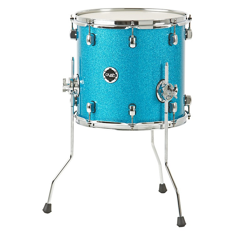 Crush Drums & PercussionSublime Maple Floor TomOcean Blue Sparkle14x13