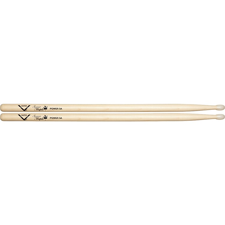 Vater Sugar Maple Drumsticks Power 5B Nylon Tip