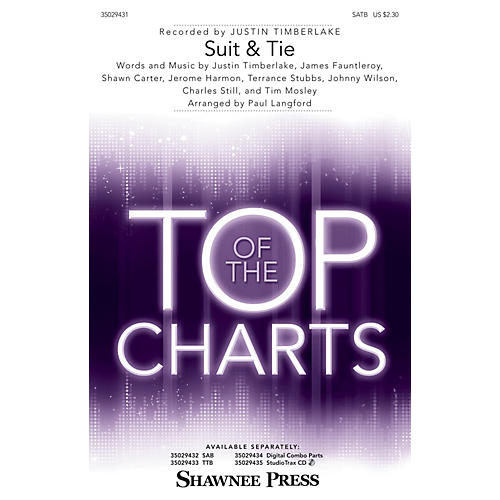 Shawnee Press Suit & Tie SATB by Justin Timberlake arranged by Paul Langford