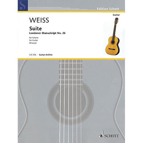 Schott Suite Schott Series Softcover Composed by Silvius Leopold Weiss Edited by Ansgar Krause-thumbnail