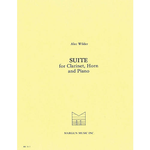 Margun Music Suite for Clarinet, Horn and Piano Shawnee Press Series Composed by Alec Wilder-thumbnail