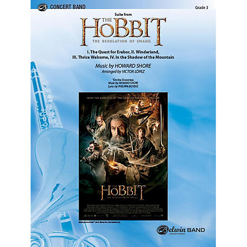 Alfred Suite from The Hobbit: The Desolation of Smaug Concert Band Grade 3.5 Set-thumbnail