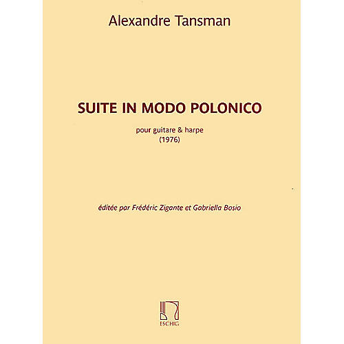 Max Eschig Suite in modo polonico (Guitar and Harp) Editions Durand Series Softcover Composed by Alexandre Tansman-thumbnail