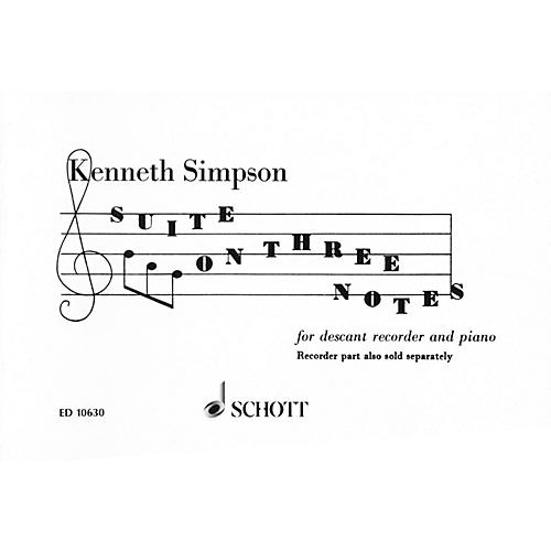 Schott Suite on 3 Notes (Descant Recorder and Piano) Schott Series-thumbnail