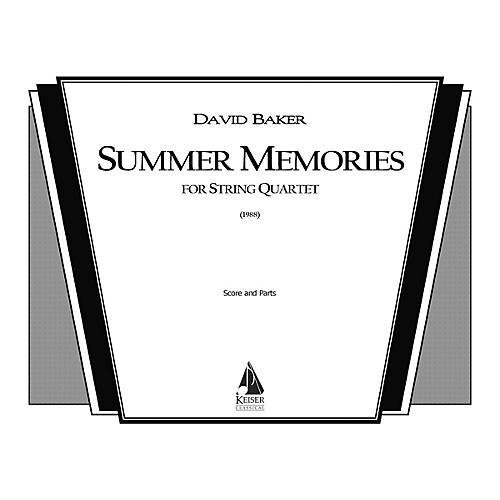 Lauren Keiser Music Publishing Summer Memories (String Quartet) LKM Music Series Composed by David Baker-thumbnail