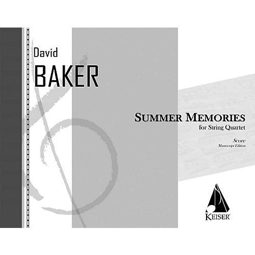 Lauren Keiser Music Publishing Summer Memories (for String Quartet) LKM Music Series Composed by David Baker