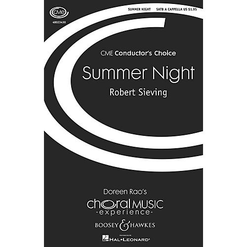 Boosey and Hawkes Summer Night (CME Conductor's Choice) SATB a cappella composed by Robert Sieving