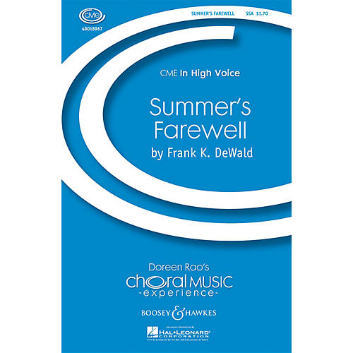 Boosey and Hawkes Summer's Farewell (CME In High Voice) SSA composed by Frank DeWald-thumbnail