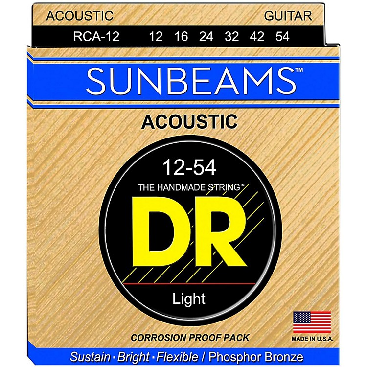 DR Strings Sunbeam Phosphor Bronze Medium Acoustic Guitar Strings