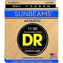 DR Strings Sunbeam Phosphor Bronze Medium Lite Acoustic Guitar Strings