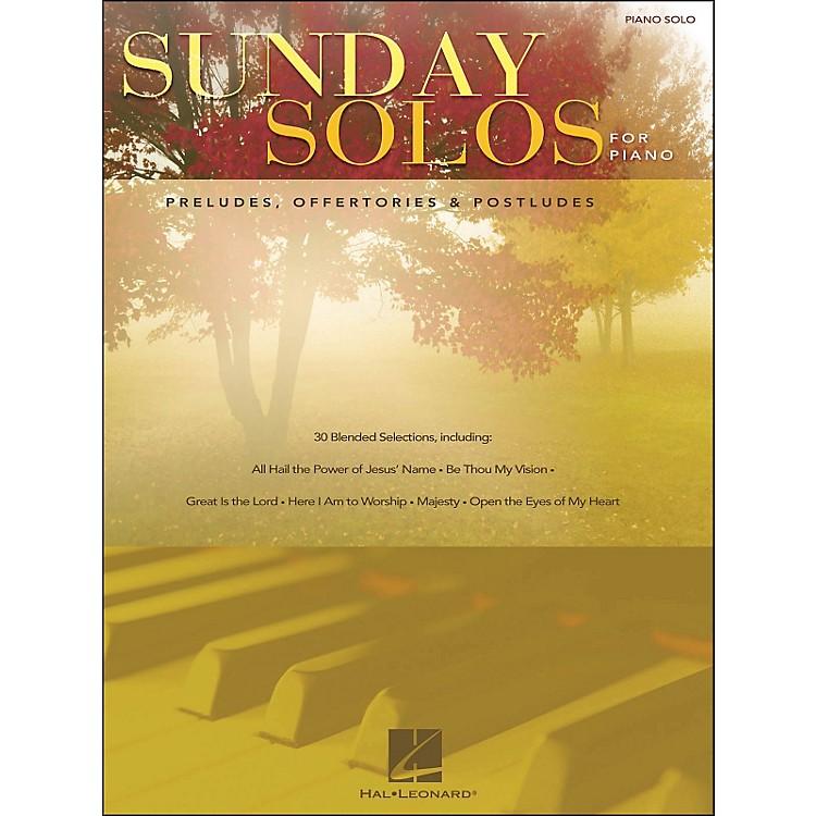 Hal LeonardSunday Solos for Piano - Preludes, Offertories, & Postludes for Piano Solo