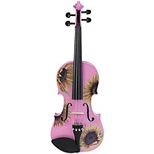 Rozanna's Violins Sunflower Delight Pink Series Violin Outfit 3/4 Size