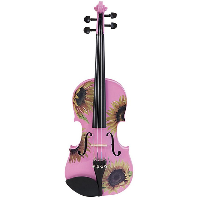 Rozanna's ViolinsSunflower Delight Pink Series Violin Outfit3/4 Size