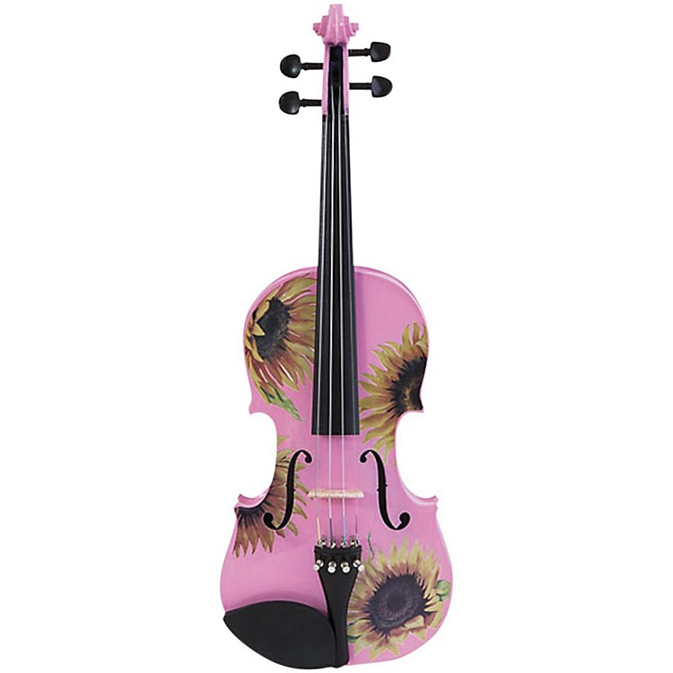 Rozanna's Violins Sunflower Delight Pink Series Violin Outfit 4/4 Size