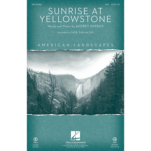 Hal Leonard Sunrise at Yellowstone (from American Landscapes) SSA-thumbnail
