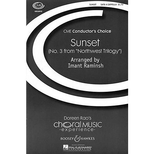 Boosey and Hawkes Sunset (No. 3 from Northwest Trilogy) CME Conductor's Choice SATB a cappella arranged by Imant Raminsh-thumbnail