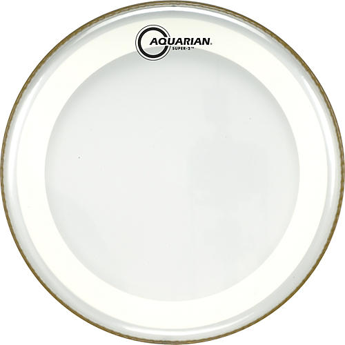 Aquarian Super-2 Clear Drumhead with SX Ring 15 in.