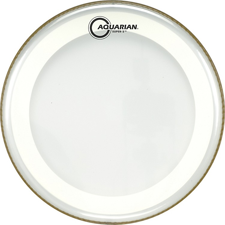 Aquarian Super-2 Clear Drumhead with SX Ring 18 In