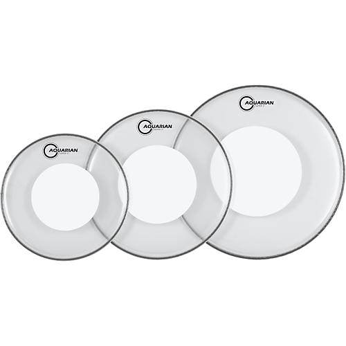 Aquarian Super-2 Drumheads with Power Dot Fusion Pack