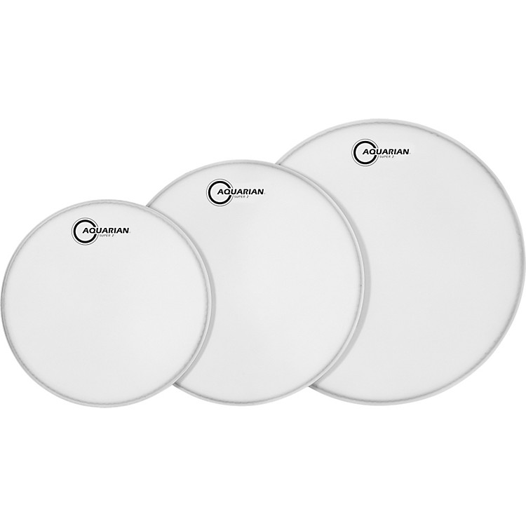 AquarianSuper-2 Texture Coated Drumheads Fusion Pack