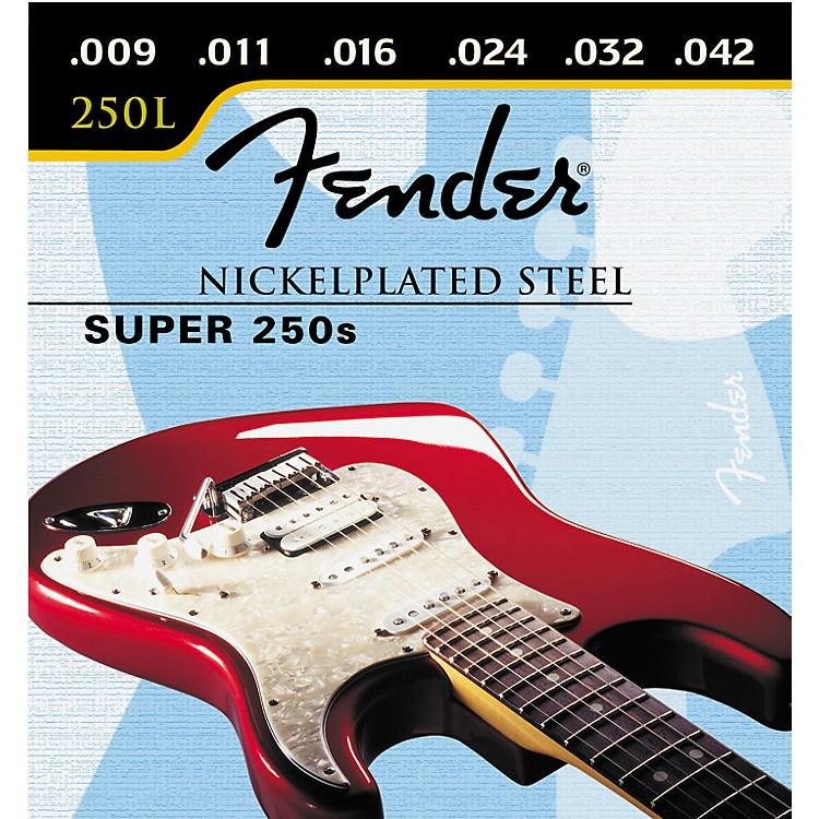 FenderSuper 250L Nickel/Steel Light Ball End Electric Guitar Strings