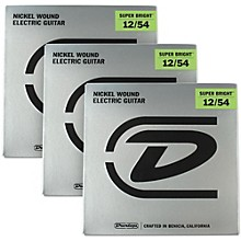 Dunlop Super Bright Heavy Nickel Wound Electric Guitar Strings (12-54) 3-Pack