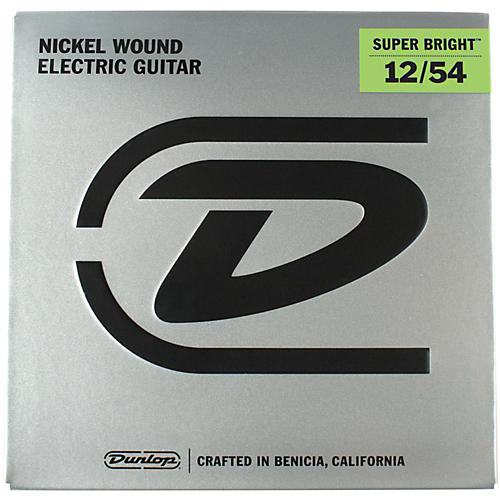 dunlop super bright heavy nickel wound electric guitar strings 12 54 musician 39 s friend. Black Bedroom Furniture Sets. Home Design Ideas