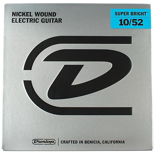 Dunlop Super Bright Light Top/Heavy Bottom Nickel Wound Electric Guitar Strings (10-52)-thumbnail