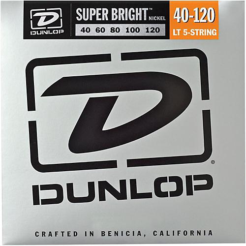 Dunlop Super Bright Nickel Light 5-String Bass Guitar Strings-thumbnail