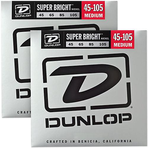 Dunlop Super Bright Nickel Medium 4-String Bass Guitar Strings (4-105) 2-Pack-thumbnail