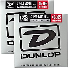 Dunlop Super Bright Steel Medium 4-String Bass Guitar Strings (45-105) 2-Pack