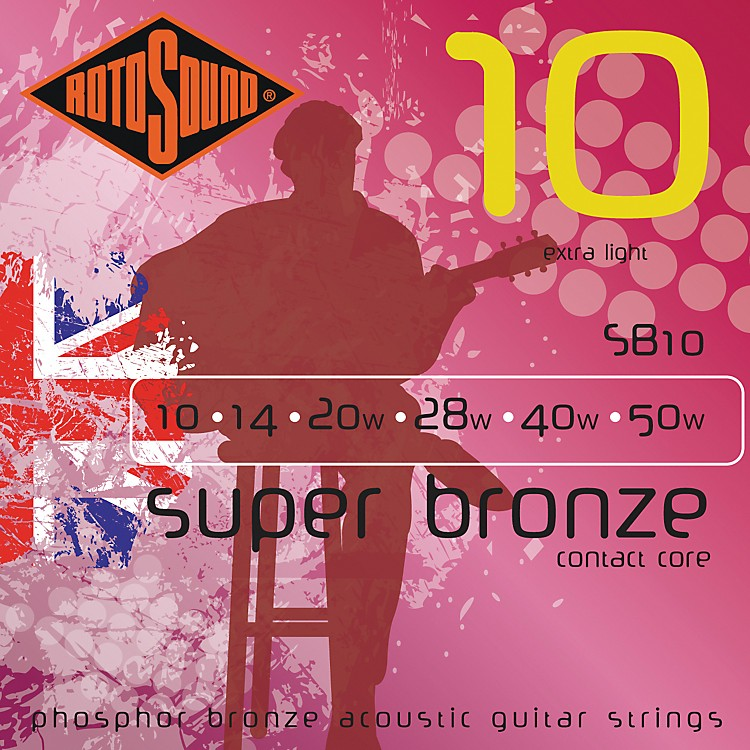 Rotosound Super Bronze Acoustic Guitar Strings