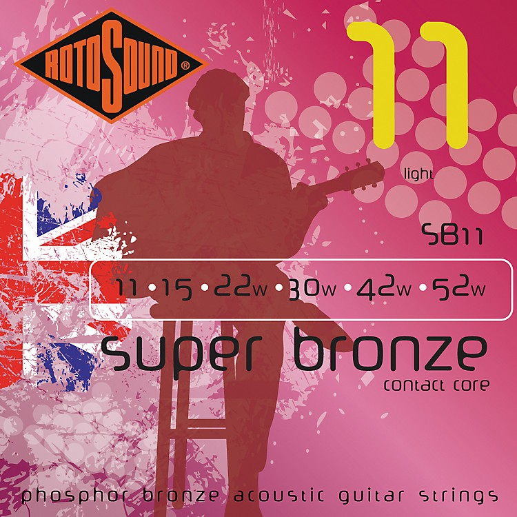 Rotosound Super Bronze Acoustic Guitar Strings SB10