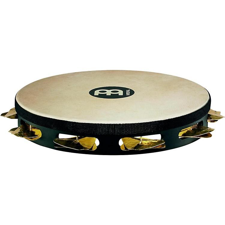 MeinlSuper-Dry Studio Goat-Skin Wood Tambourine One Row Brass JinglesBlack