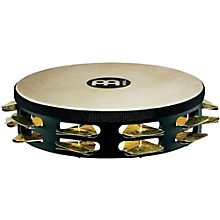 Meinl Super-Dry Studio Goat-Skin Wood Tambourine Two Rows Brass Jingles
