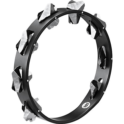 Meinl Super-Dry Studio Wood Tambourine One Row Stainless Steel Jingles Black