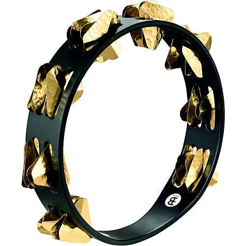 Meinl Super-Dry Studio Wood Tambourine Two Rows Brass Jingles Black