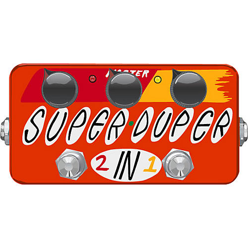 ZVex Super Duper 2-in-1 Overdrive/Distortion Guitar Effects Pedal