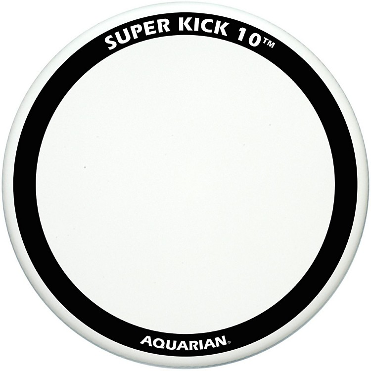 Aquarian Super-Kick 10 Bass Drum Head White Coated 24 Inch