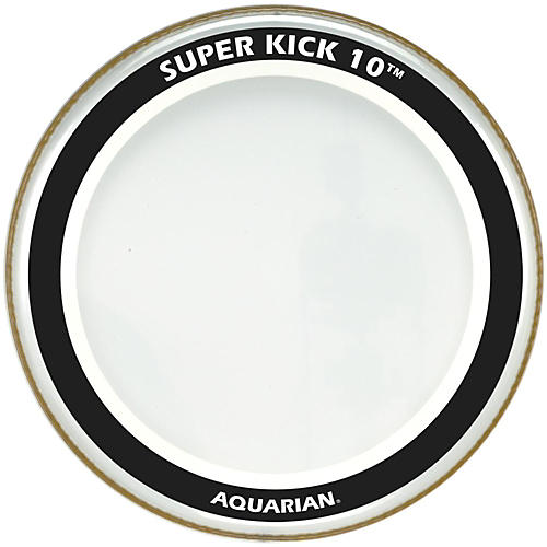 Aquarian Super-Kick 10 Bass Drumhead Clear 22 in.