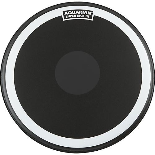 Aquarian Super-Kick III Black Drumhead 18 in.