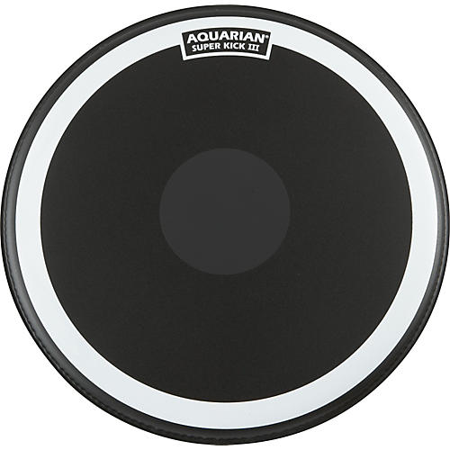 Aquarian Super-Kick III Black Drumhead 20 in.