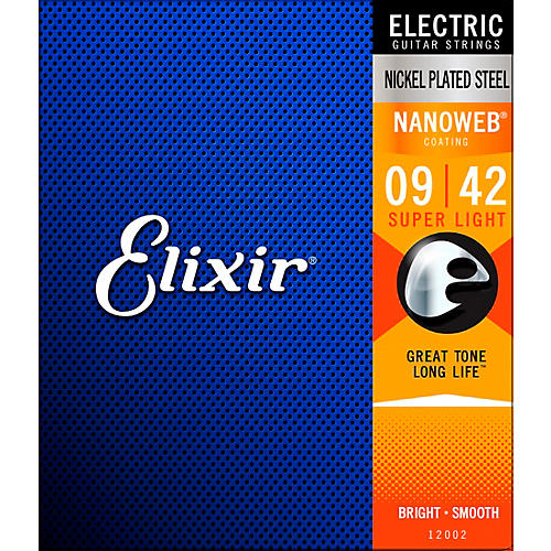 Elixir Super Light Nanoweb Electric Guitar Strings