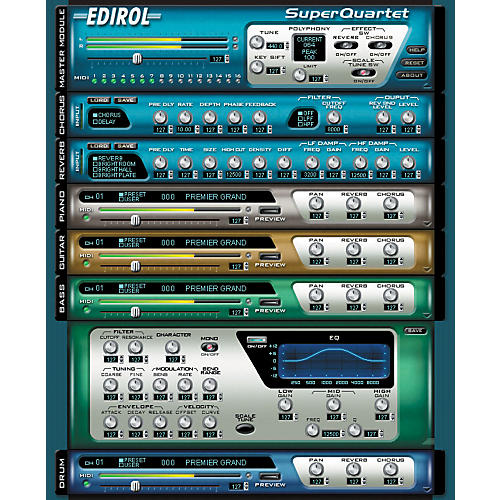 Edirol Super Quartet HQ Software Synth-thumbnail