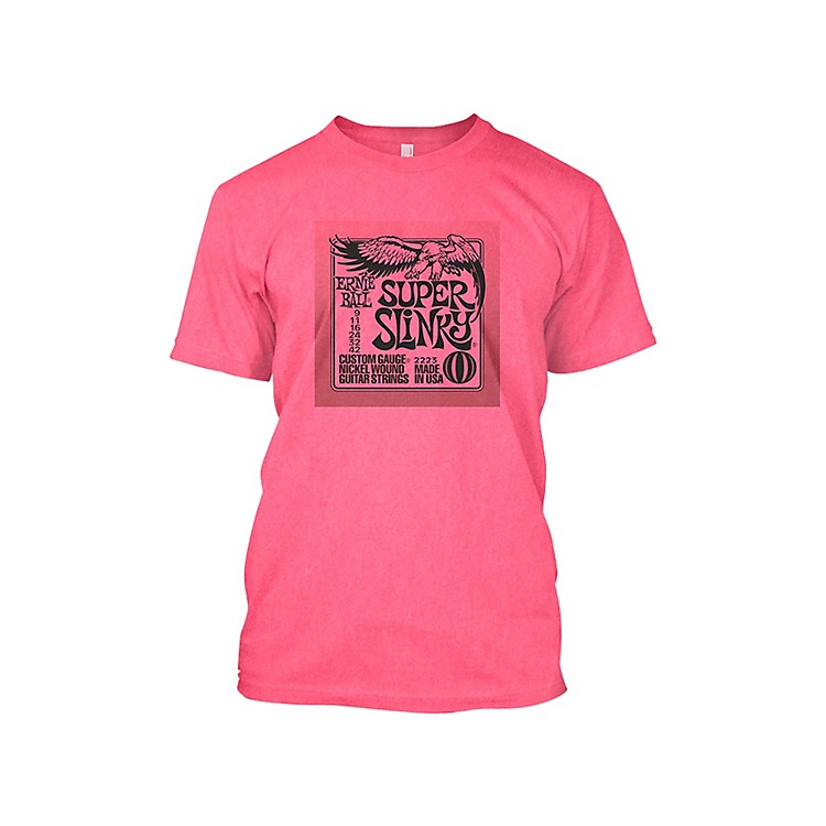 Ernie Ball Super Slinky T-Shirt Neon Pink Medium